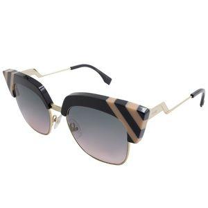 NWT FENDI 50mm Stripe rimmed sunglasses